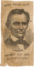 Political:Ribbons & Badges, Abraham Lincoln: One of the Very Best Ribbon Designs for 1860....