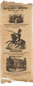 Political:Ribbons & Badges, William Henry Harrison: One-Day Event Ribbon....