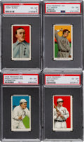 Baseball Cards:Lots, 1909-11 T206 Piedmont PSA EX-MT 6 Collection (4)....