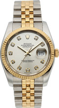 Timepieces:Wristwatch, Rolex Ref. 116233 Diamond Dial Two Tone Oyster Perpetual Datejust,circa 2003. ...