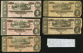 Confederate Notes:1864 Issues, T68 $10 1864 Five Examples.. ... (Total: 6 items)