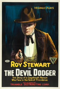 "The Devil Dodger (Triangle, 1917). One Sheet (27.75"" X 41"")"