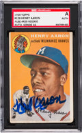 Autographs:Sports Cards, Signed 1954 Topps Hank Aaron #128 SGC Authentic 10....