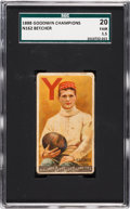 "Football Cards:Singles (Pre-1950), 1888 N162 Goodwin ""Champions"" Henry Beecher SGC 20 Fair 1.5 - The1st Football Card. ..."