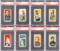 Baseball Cards:Lots, 1909-11 T206 White Borders HoFers PSA-Graded Collection (8). ...