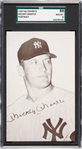 Baseball Cards:Singles (1940-1949), 1947-1966 Exhibits Mickey Mantle SGC 88 NM/MT 8....