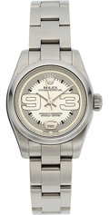 Timepieces:Wristwatch, Rolex Ref. 176200 Lady's Maxi Dial Steel Oyster Perpetual, circa2008. ...