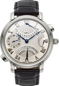 Timepieces:Wristwatch, Maurice Lacroix MP 7018 GMT Double Retrograde With Power Indicator. ...