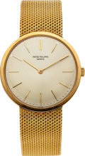 Timepieces:Wristwatch, Patek Philippe Ref. 3484/1 Gent's Gold Wristwatch, circa 1970. ...