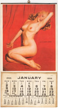 Memorabilia:Miscellaneous, Marilyn Monroe Reproduction 1955 Pin-Up Calendar (c. 1980-90s)....