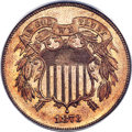 Proof Two Cent Pieces, 1873 2C Open 3 PR66 Red PCGS. CAC....