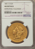 Liberty Double Eagles, 1851-O $20 -- Improperly Cleaned -- NGC Details. AU. Variety 2....