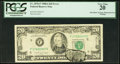 Error Notes:Obstruction Errors, Obstruction and Ink Smear Error Fr. 2076-F $20 1988A FederalReserve Note. PCGS Very Fine 20.. ...