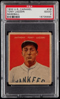 Baseball Cards:Singles (1930-1939), 1932 U.S. Caramel Tony Lazzeri #18 PSA Good 2....