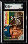 Baseball Cards:Singles (1950-1959), 1956 Topps Ted Williams (Gray Back) #5 SGC 84 NM 7....