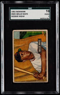 Baseball Cards:Singles (1950-1959), 1951 Bowman Willie Mays #305 SGC 10 Poor 1....