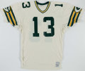 Football Collectibles:Uniforms, 1984-86 Bucky Scribner/Bill Renner Team Issued Green Bay Packers Jersey....