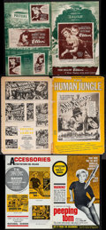 """Movie Posters:Horror, Peeping Tom & Others Lot (Anglo Amalgamated, 1960). Uncut Pressbooks (3) (Multiple Pages, 11""""X 17"""" & 12"""" X 18""""). Horror.. ... (Total: 3 Items)"""