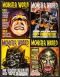 "Movie Posters:Horror, Monster World (Warren Publishing, 1965). Magazines (4) (MultiplePages, 8.25"" X 11""). Horror.. ... (Total: 4 Items)"