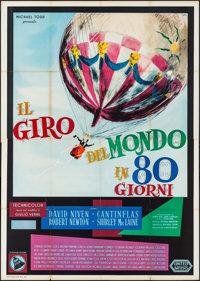 "Around the World in 80 Days (United Artists, 1959). Folded, Fine+. First Release Italian 4 - Fogli (55.25"" X 78.5&q..."