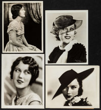 "Fay Wray (1930s). Portrait Photos (4) (Approx. 7.75"" X 9.75"" & 8"" X 10""). Miscellaneous. ... (To..."