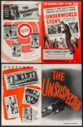 "Movie Posters:Crime, The Underworld Story & Others (United Artists, 1950). UncutPressbooks (3) (Multiple Pages, 11"" X 17""). Crime.. ... (Total: 3Items)"