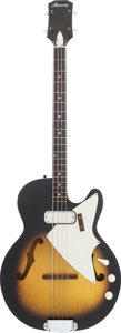 Musical Instruments:Bass Guitars, 1965 Harmony H22 Sunburst Electric Bass Guitar, Serial # 2288H22....