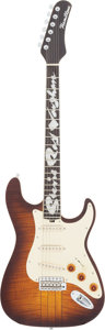 Musical Instruments:Electric Guitars, 2009 Hamiltone SRV Sunburst Solid Body Electric Guitar, Serial #0001269....