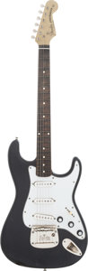 Musical Instruments:Electric Guitars, 1999 Fender-Clone Strat Black Solid Body Electric Guitar....