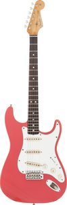 Musical Instruments:Electric Guitars, Circa 1964 Fender Stratocaster Fiesta Red Solid Body ElectricGuitar, Serial # L52282....