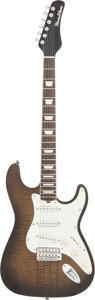 Musical Instruments:Electric Guitars, 2009 Hamiltone Strat Trans Black Solid Body Electric Guitar, Serial# 300047....
