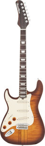Musical Instruments:Electric Guitars, Circa 1999 Hamiltone Left-Handed Sunburst Solid Body ElectricGuitar, Serial # 0001146....