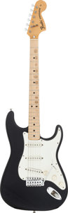 Musical Instruments:Electric Guitars, 1975 Fender Stratocaster Black Solid Body Electric Guitar, Serial#524568....