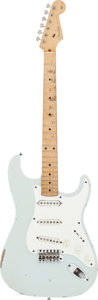 Musical Instruments:Electric Guitars, 1957 Fender Stratocaster Sonic Blue Solid Body Electric Guitar, Serial #19556....