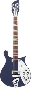 Musical Instruments:Electric Guitars, 2011 Rickenbacker 620 Blue Solid Body Electric Guitar, Serial #1148432....