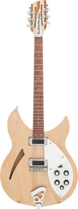Musical Instruments:Electric Guitars, 2002 Rickenbacker 330/12 Natural Semi-Hollow Body Electric Guitar,Serial #02 15132....