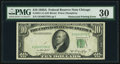Error Notes:Obstruction Errors, Partially Obstructed Third Printing Error Fr. 2011-G $10 1950AFederal Reserve Note. PMG Very Fine 30.. ...