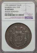 German States:Bamberg, German States: Bamberg. Franz Ludwig Taler 1795 XF Details (MountRemoved) NGC,...