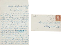 Union Soldier's Letter with Rappahannock Station Battle Content
