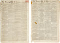 Miscellaneous:Newspaper, [Newspaper]. The Morning Post and Gazetteer: Group of OverFifty Issues....