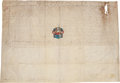 Autographs:Non-American, Louis XV Document Signed...