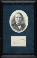 Autographs:Inventors, Thomas Edison Signature....