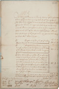 Autographs:Non-American, Queen Mary II of England Document Signed...