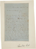 Autographs:Statesmen, George Gilmer Autograph Letter Signed on the Topic of the Cherokeein Georgia....