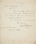 Autographs:Inventors, Samuel F. B. Morse Autograph Letter Signed with Unsigned Sketch[attributed]. ...
