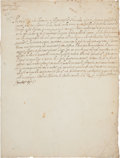 "Autographs, Pope Sixtus V Letter Signed ""Sixtus PP V"". ..."