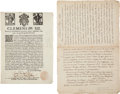 Autographs, Pope Clement XII Printed Indulgence and Manuscript Privilege. . ...