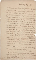 Autographs:Statesmen, Aaron Burr Autograph Letter Signed with Initials,...
