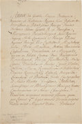 Autographs:Non-American, Queen Anne of England Letter Signed...