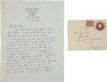 Autographs:Authors, Virginia Woolf Autograph Letter Signed.... (Total: 2 Items)